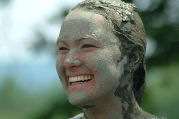 The lovely Angela after puddle-jumping